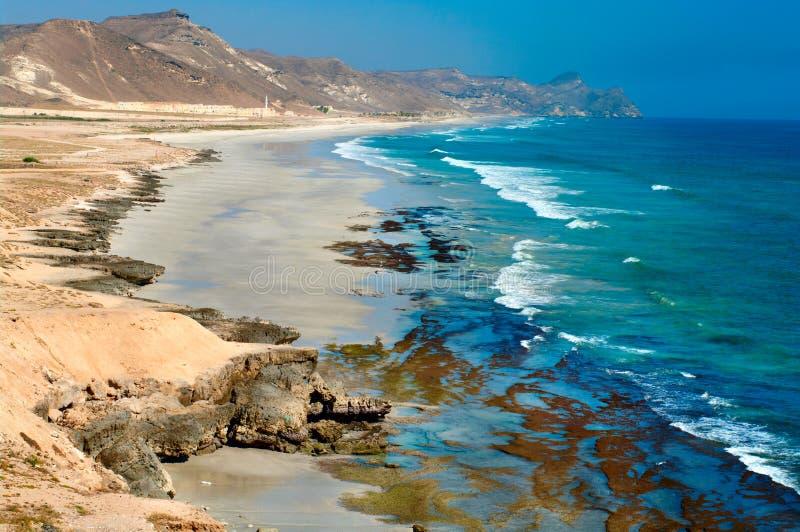 Beach near Al Mughsayl, Oman stock image