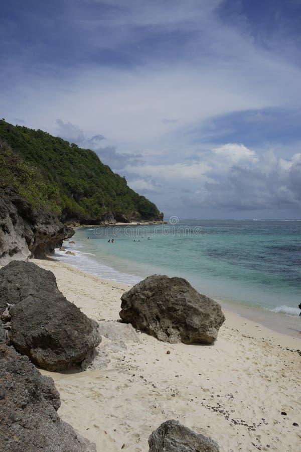 Beach near Bali Cliff, South of Bali island, Indonesia stock photo