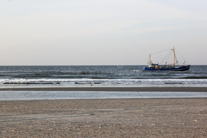 Beach near Bureblinkert at Ameland Beach, Holland stock images