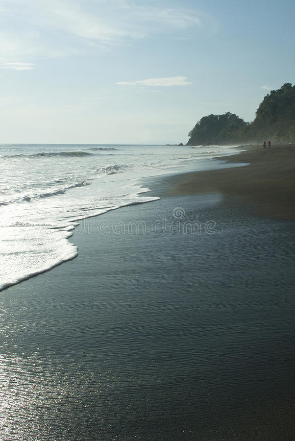 Costa Rican Beach stock image