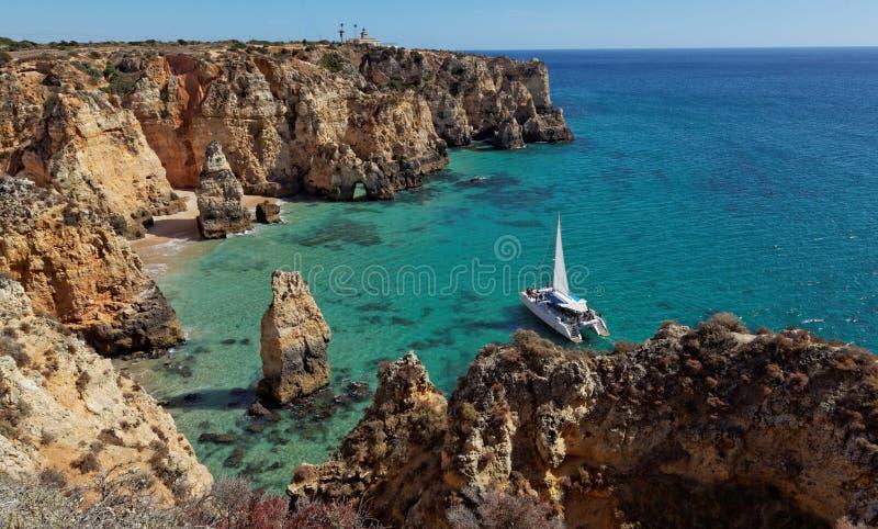 Beach near Lagos - Algarve, Portugal royalty free stock image