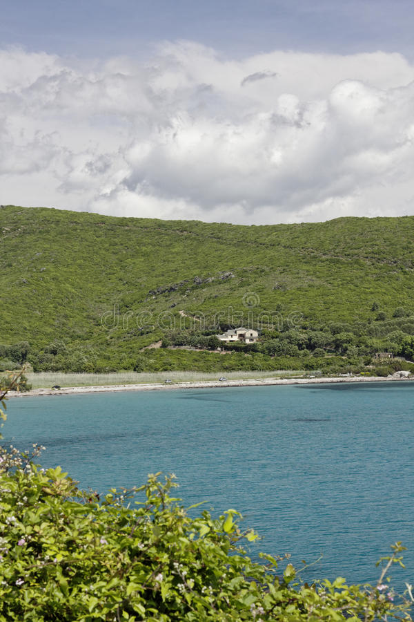 Free Beach Near Porticciolo At The East Coast, Cap Corse, Corsica, France Royalty Free Stock Photos - 57588688