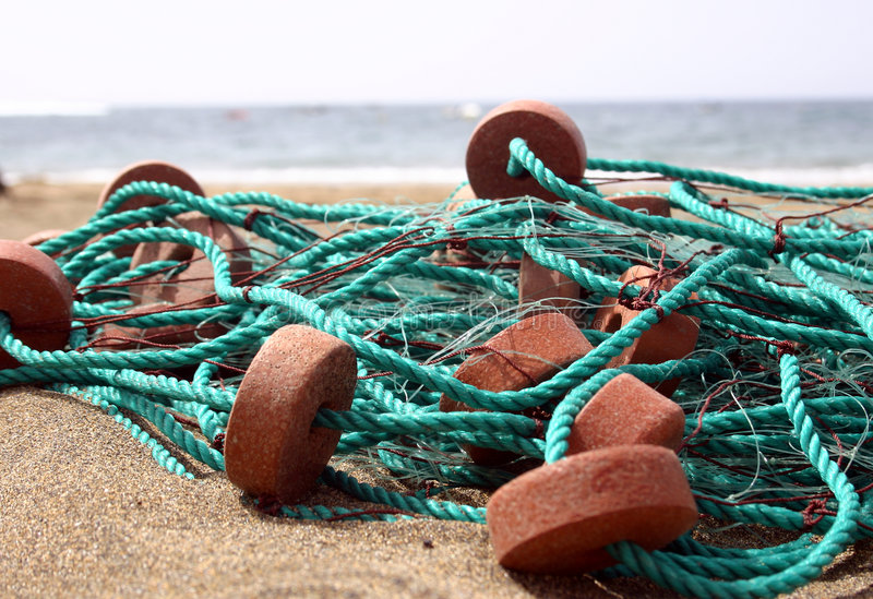Beach Nets royalty free stock image