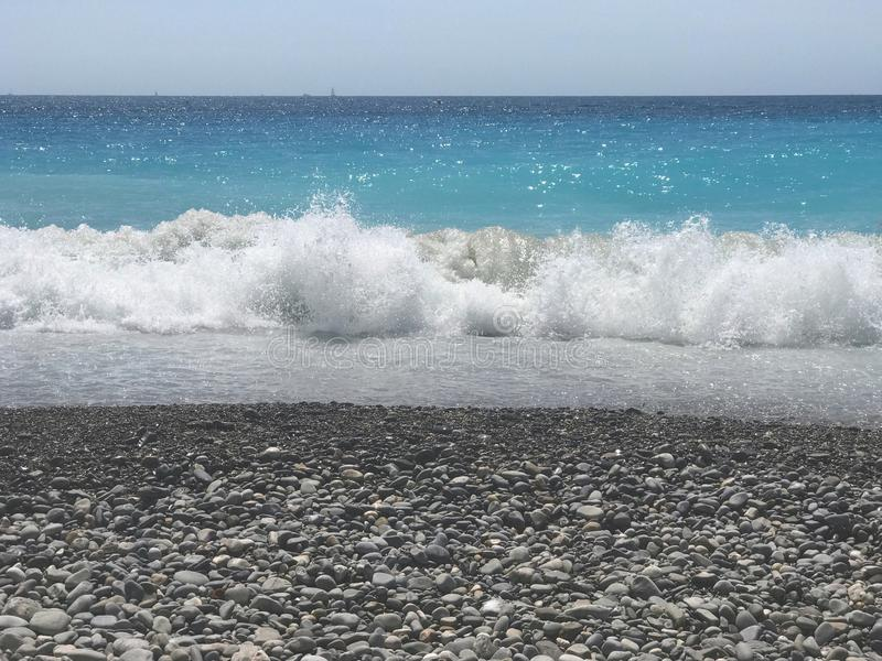 Beach in Nice south France stock image
