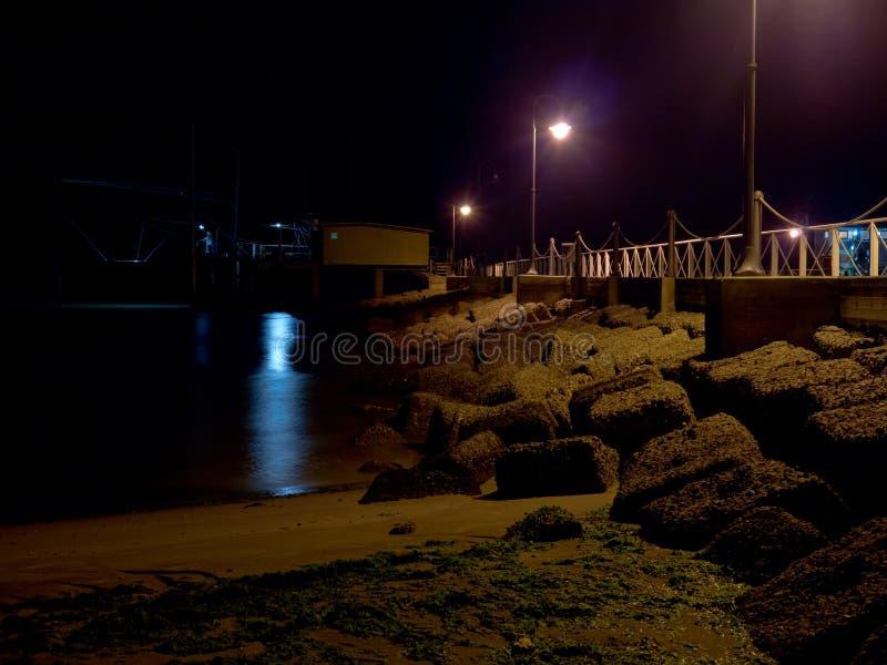 Beach At Night Stock Photo