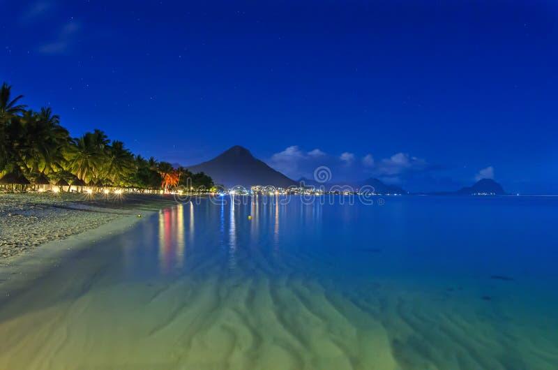 Beach at night royalty free stock photos