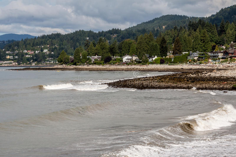 Beach North Vancouver Canada. A rocky beach and the shore in north Vancouver, British Columbia, Canada royalty free stock image