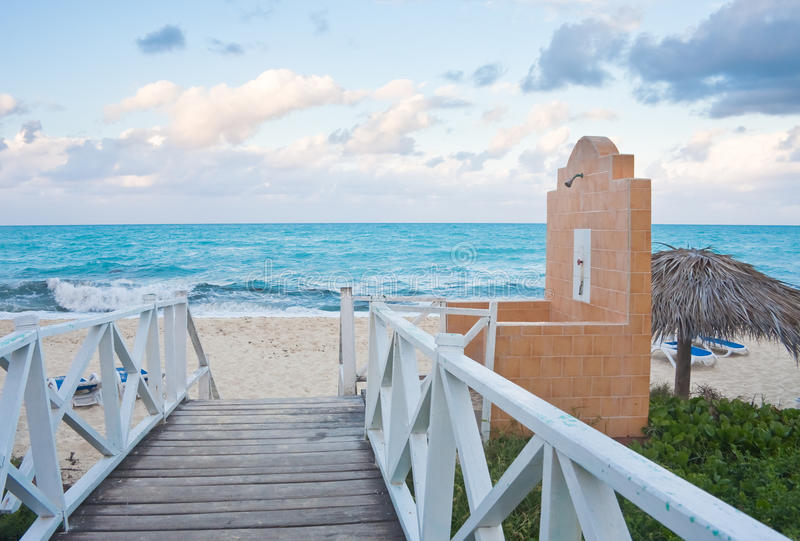 Download The beach on the ocean stock image. Image of roof, peaceful - 27702107