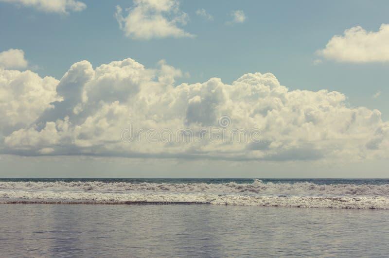 Ocean. Beach on the ocean coast royalty free stock image