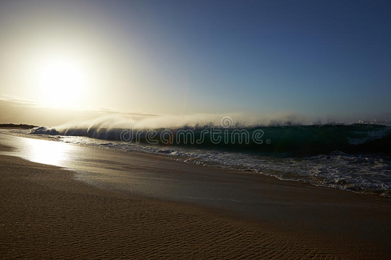 Beach and ocean royalty free stock photo