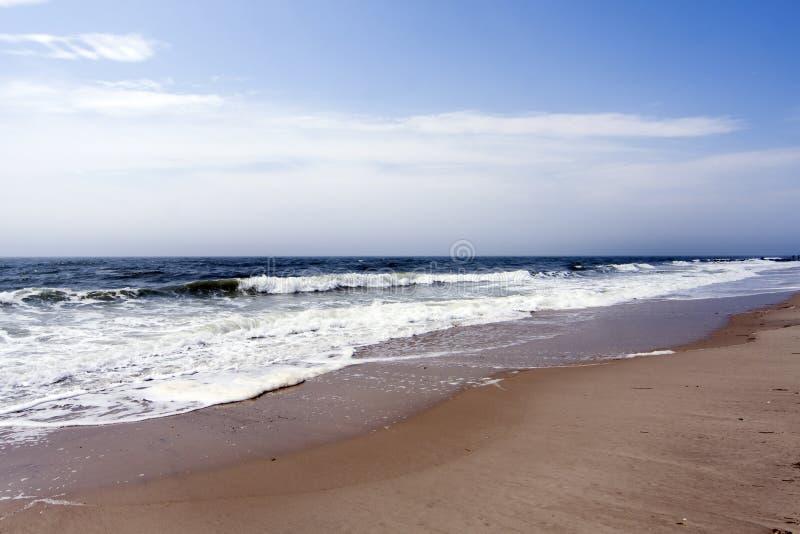 Beach ocean waves royalty free stock photo