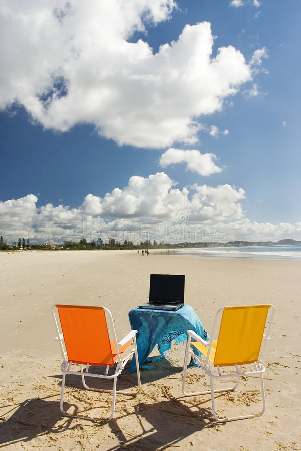 Download Beach Office 1 stock photo. Image of goldcoast, close, folded - 145280