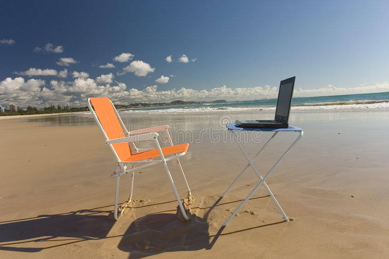 Beach Office royalty free stock images