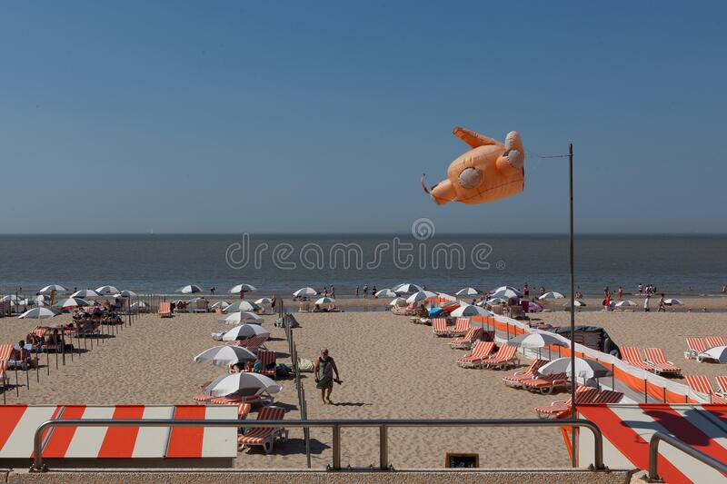 Beach sea Blankenberge, Belgium stock photography