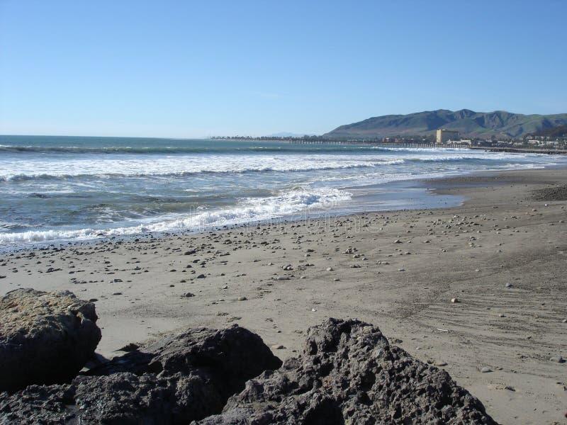 Beach in Oxnard, CA. Pacific Ocean Sands and Beach Community in Oxnard, California royalty free stock image