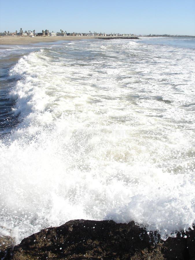 Beach in Oxnard, CA. Pacific Ocean Sands and Beach Community in Oxnard, California stock photo