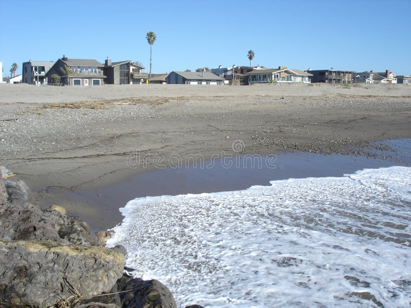 Beach in Oxnard, CA. Pacific Ocean Sands and Beach Community in Oxnard, California royalty free stock images