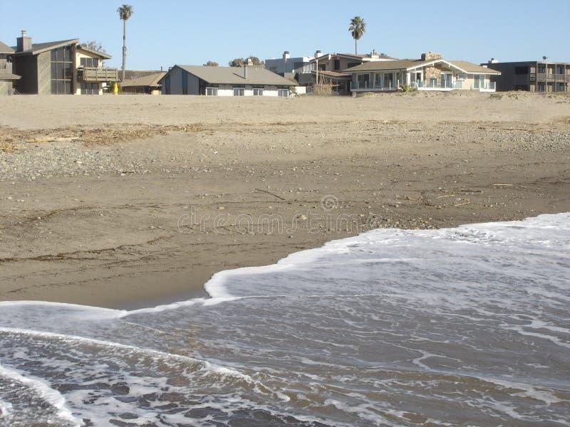 Beach in Oxnard, CA. Pacific Ocean Sands and Beach Community in Oxnard, California royalty free stock photo