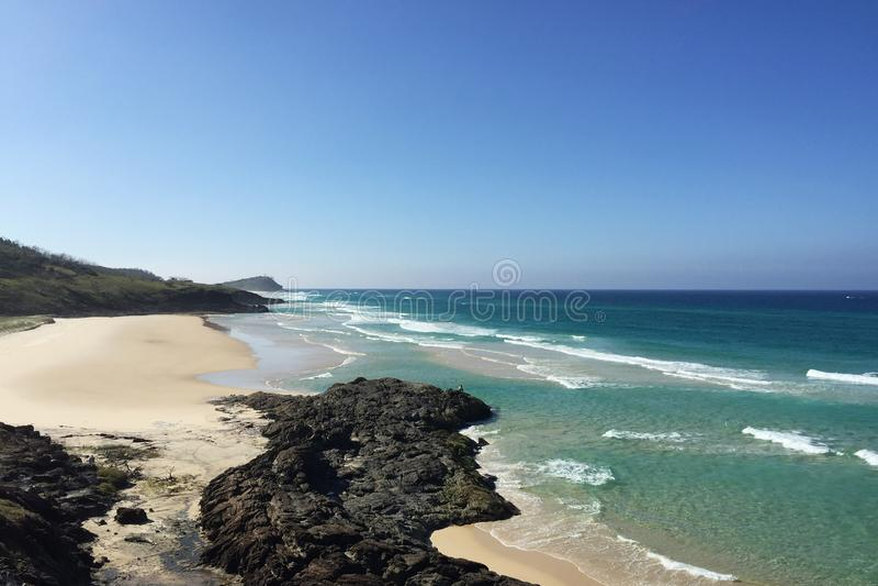 Beach på Fraser Island royaltyfria bilder