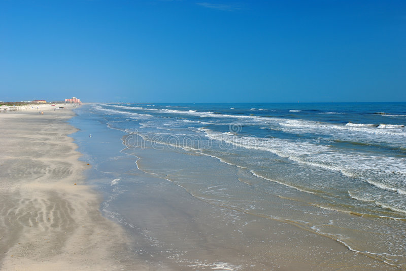 Beach in Padre Island stock images
