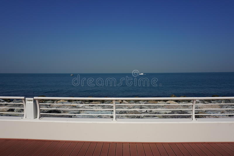 Beach in the palm island dubai stock images