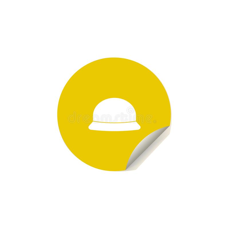 beach panama hat icon in sticker style. One of summer pleasure collection icon can be used for UI, UX vector illustration