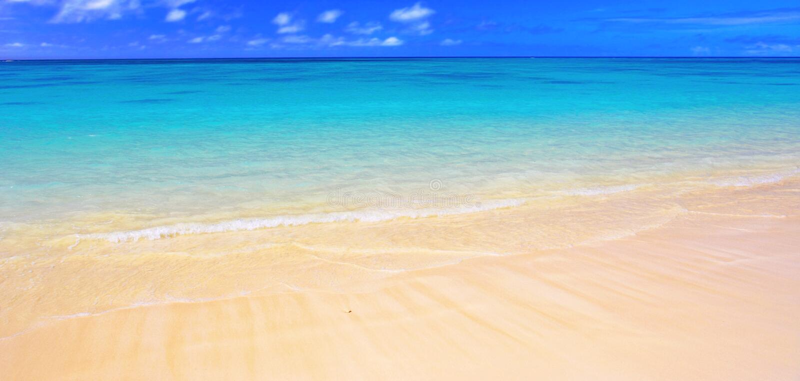 Beach panorama ( stock image