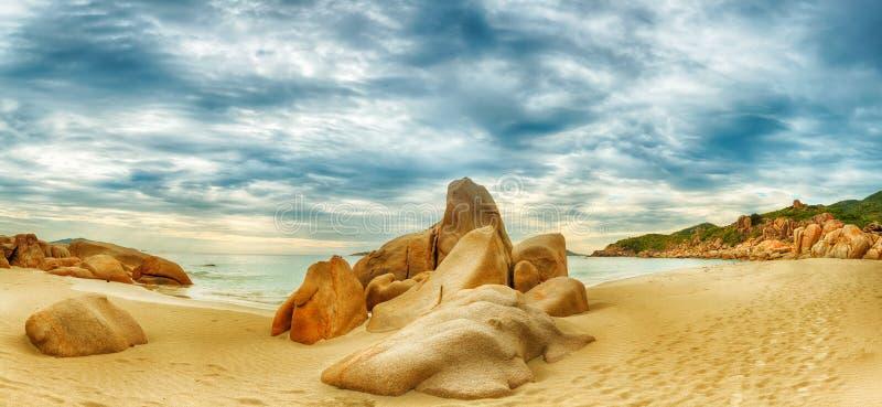 Beach panorama royalty free stock photography