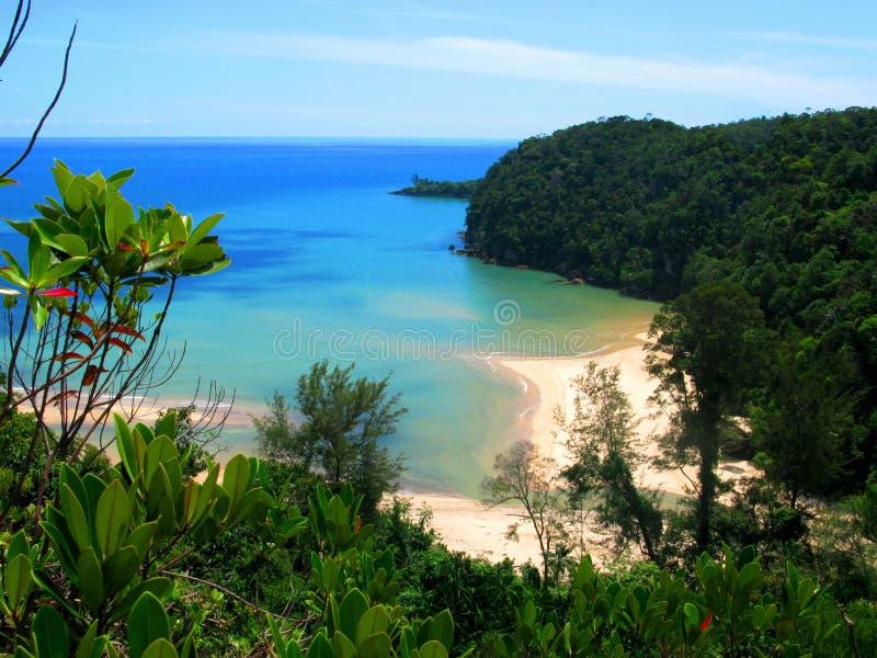 Beach Paradise in Borneo royalty free stock photography