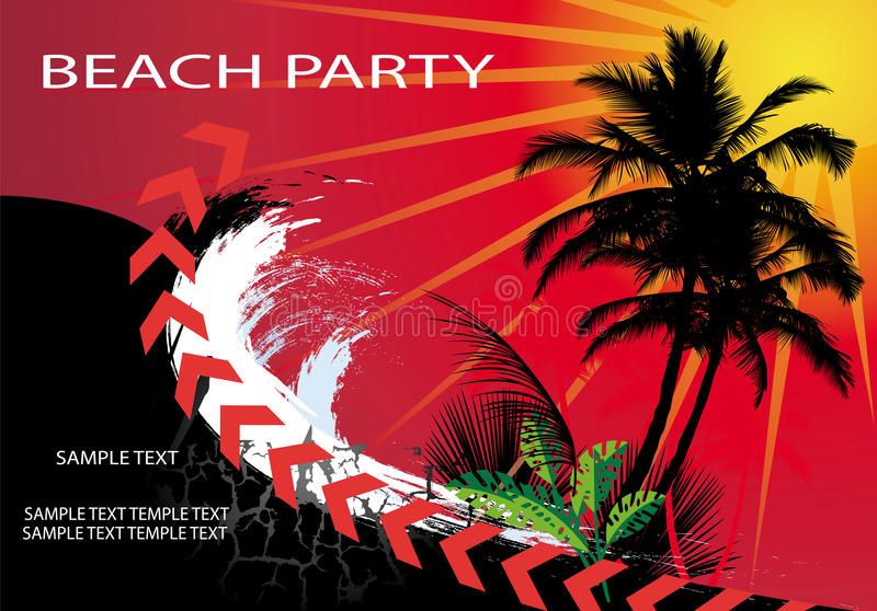 Download Beach Party stock vector. Image of dancer, notes, song - 24859332