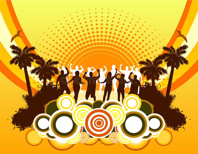 Download Beach Party Background stock vector. Image of element - 17883428