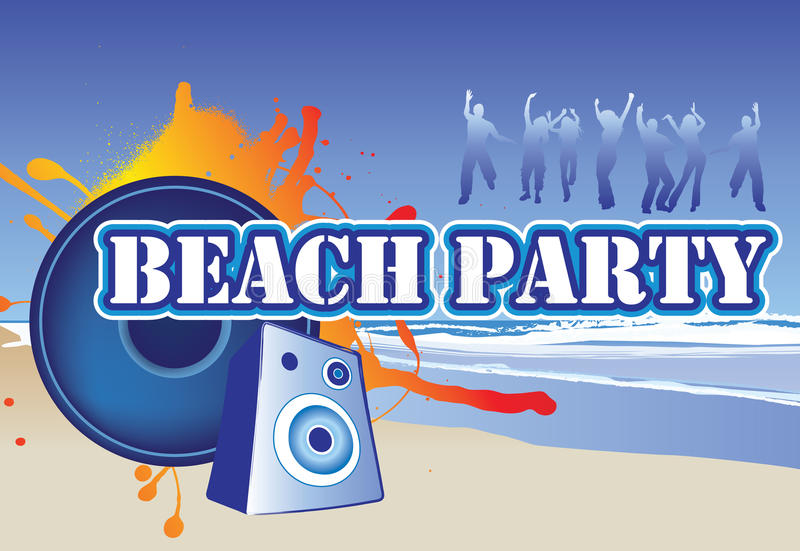 Download Beach party flyer stock vector. Image of illustration - 9961325