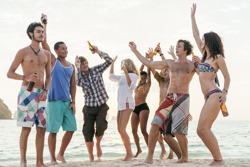 Beach Party Freedom Vacation Leisure Activity Concept stock photos