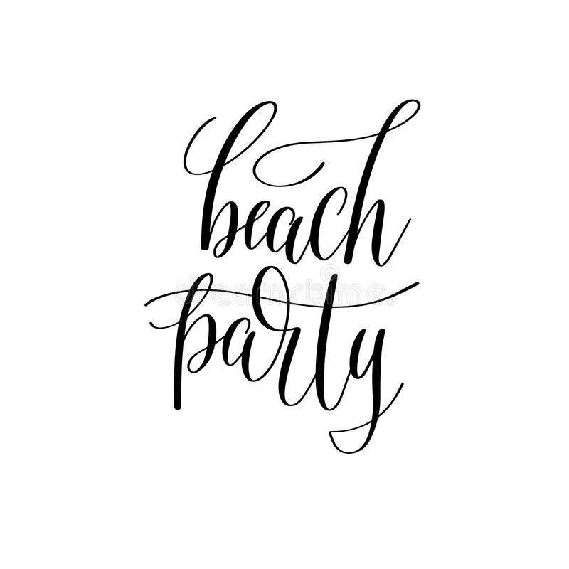 Beach party inspirational quote about summer travel royalty free illustration