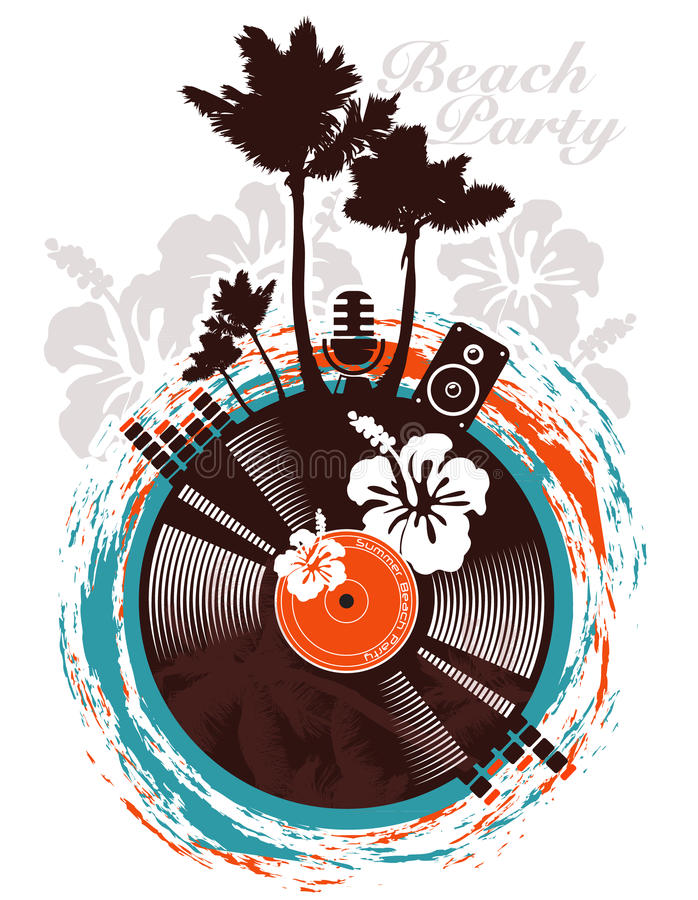 Beach party poster royalty free illustration