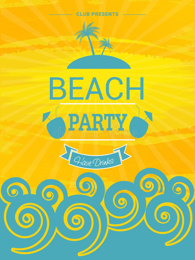 Beach party template banner or invitation design stock download beach party template banner or invitation design stock illustration illustration of exotic stopboris Image collections