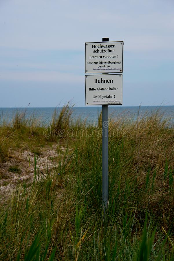 Sign FKK beach Stock Photo, Royalty Free Image: 57564323