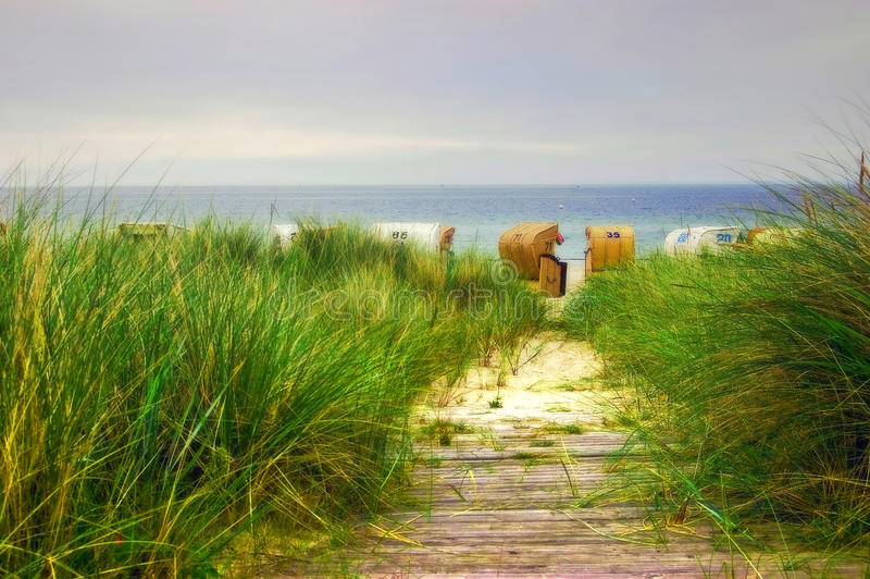 Download Beach Path To The Baltic Sea Stock Photo - Image: 27564616