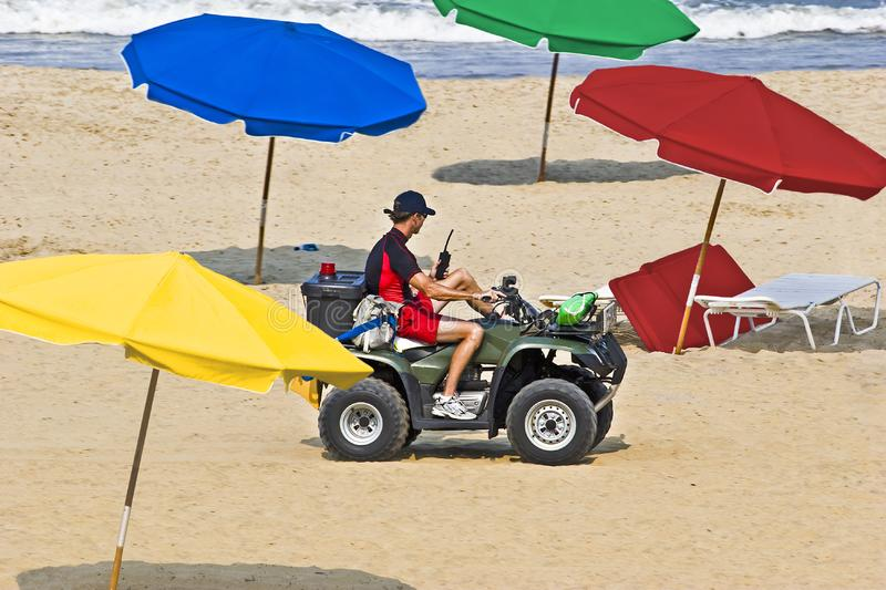 Beach Patrol royalty free stock image