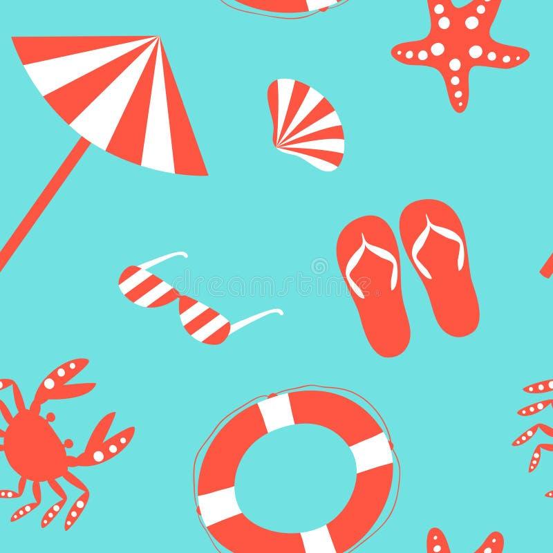 Beach Pattern Stock Vector Illustration 51931298 Download Wallpaper