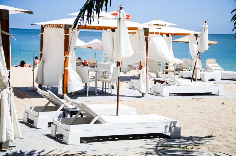 Beach pavilion royalty free stock photo