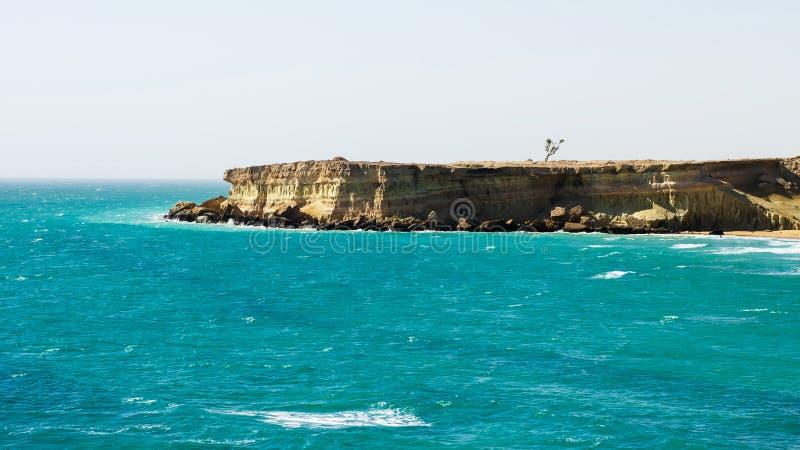 Beach of persian gulf stock photography