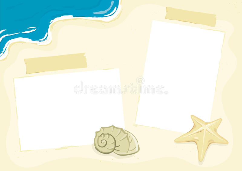 Beach Photo Frame royalty free illustration