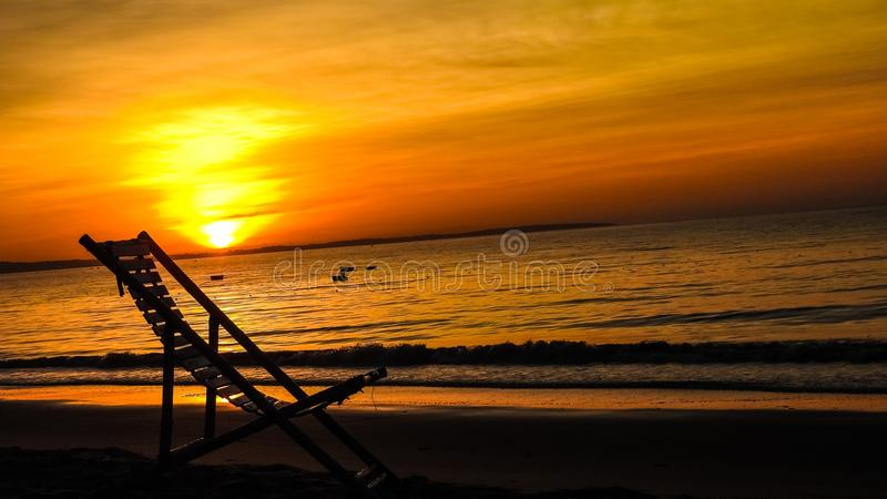 Beautiful sunrises and sunsets. Beach photos with beautiful sunrises and sunsets in different countries stock images