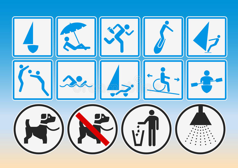 Beach pictograms