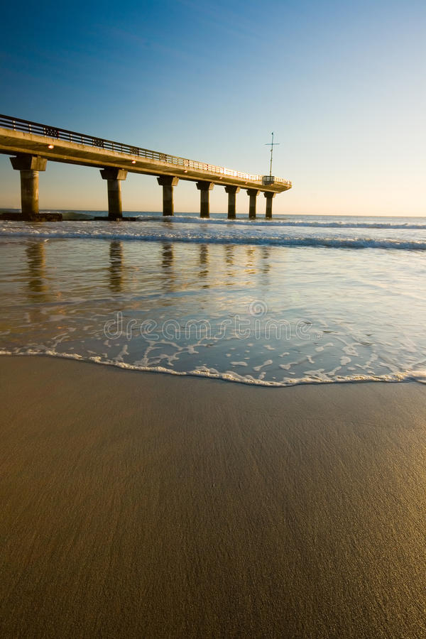 Beach pier royalty free stock photos