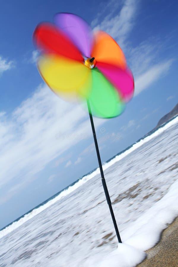 Beach Pinwheel in the Wind royalty free stock image