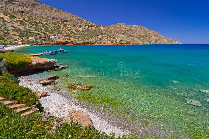Download Beach In Plaka Town On Crete Stock Image - Image: 26804953