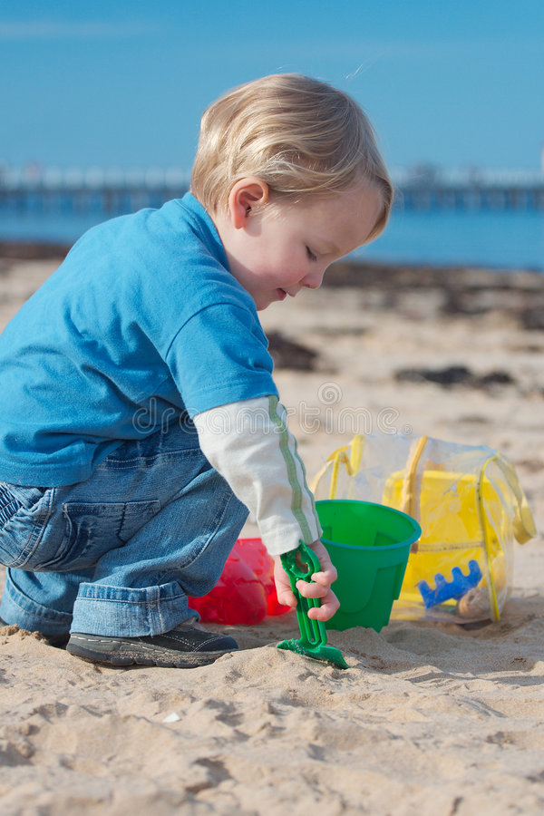 Beach play. royalty free stock images
