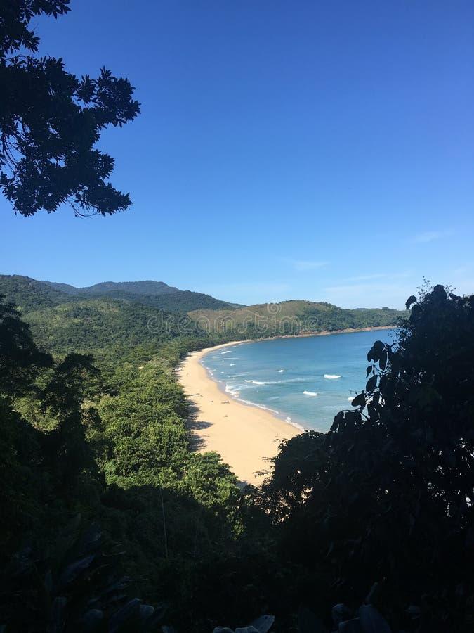 mirante praia do sono paraty stock image